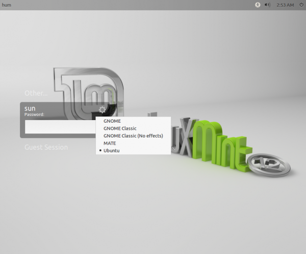 Custom Linux Mint 12 Login Screen
