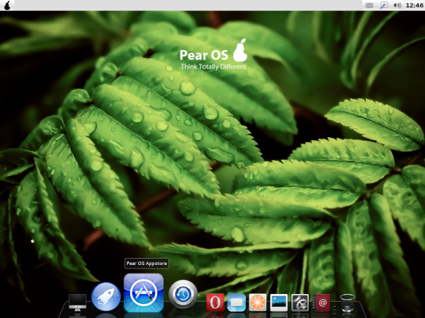Pear OS Linux Panther Default Desktop
