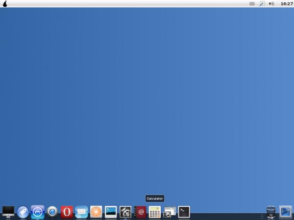Pear OS Linux Desktop Docky