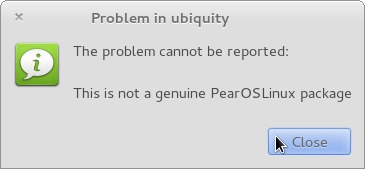Pear OS Bug error