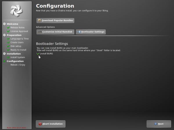 Chakra Linux Tribe Install BURG