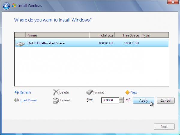 Windows 7 Format Partition