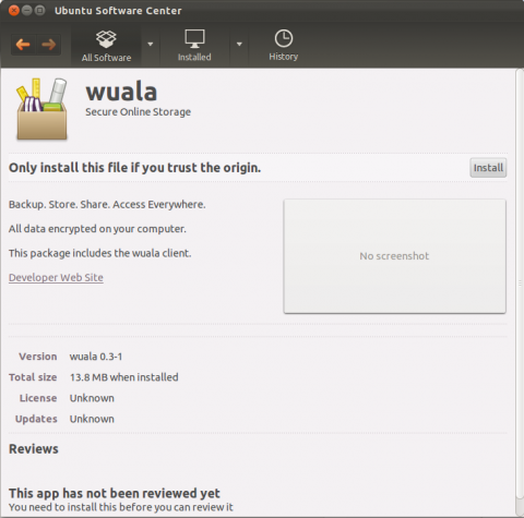 Ubuntu Software Manager Wuala Install