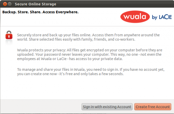 Wuala Secure Cloud Storage Client