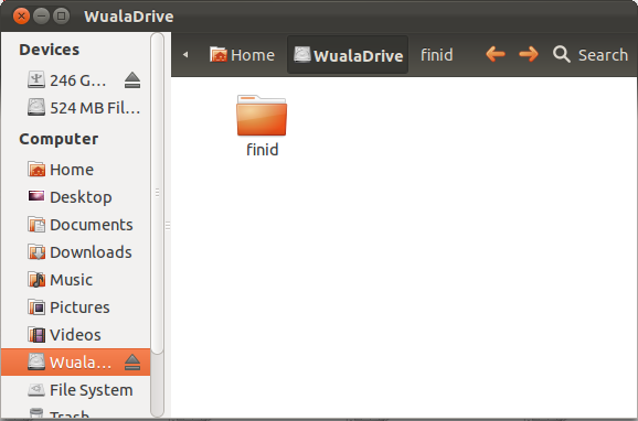 Wuala Secure Folder Home Directory