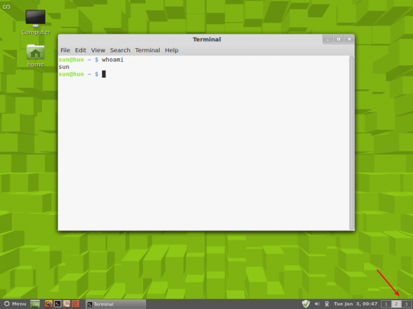 Linux Mint Cinnamon Wordspaces