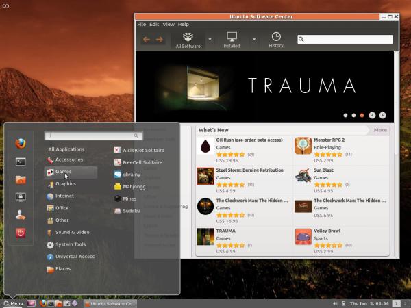 Cinnamon Desktop Ubuntu 11.10