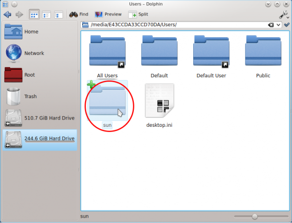 Windows Files Dolphin File Manager