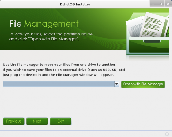 KahelOS Install FileManager