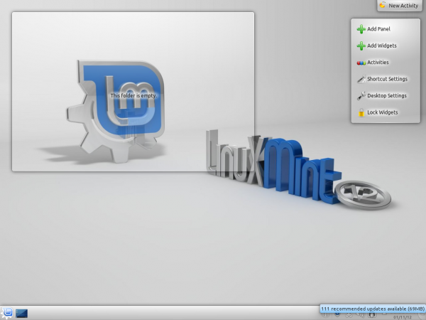 How to enable desktop slideshow on Linux Mint 12 KDE