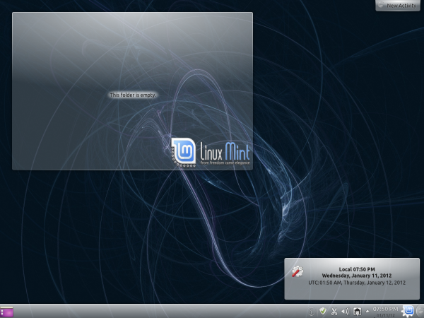 Linux Mint 12 KDE Desktop Background