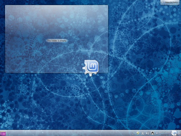 Linux Mint 12 KDE Blue Wallpaper