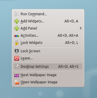Linux Mint 12 KDE Desktop Settings