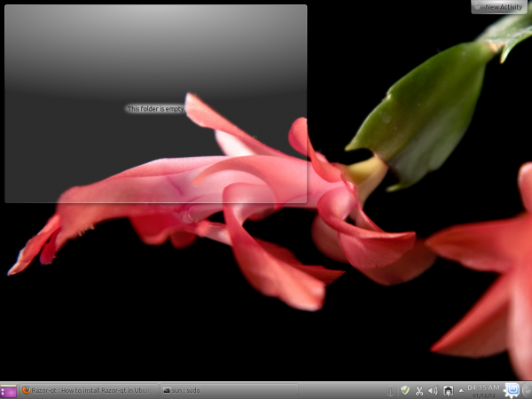 Linux Mint 12 KDE Flower Wallpaper