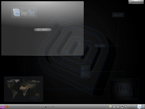 Linux Mint 12 KDE Global Wallpaper