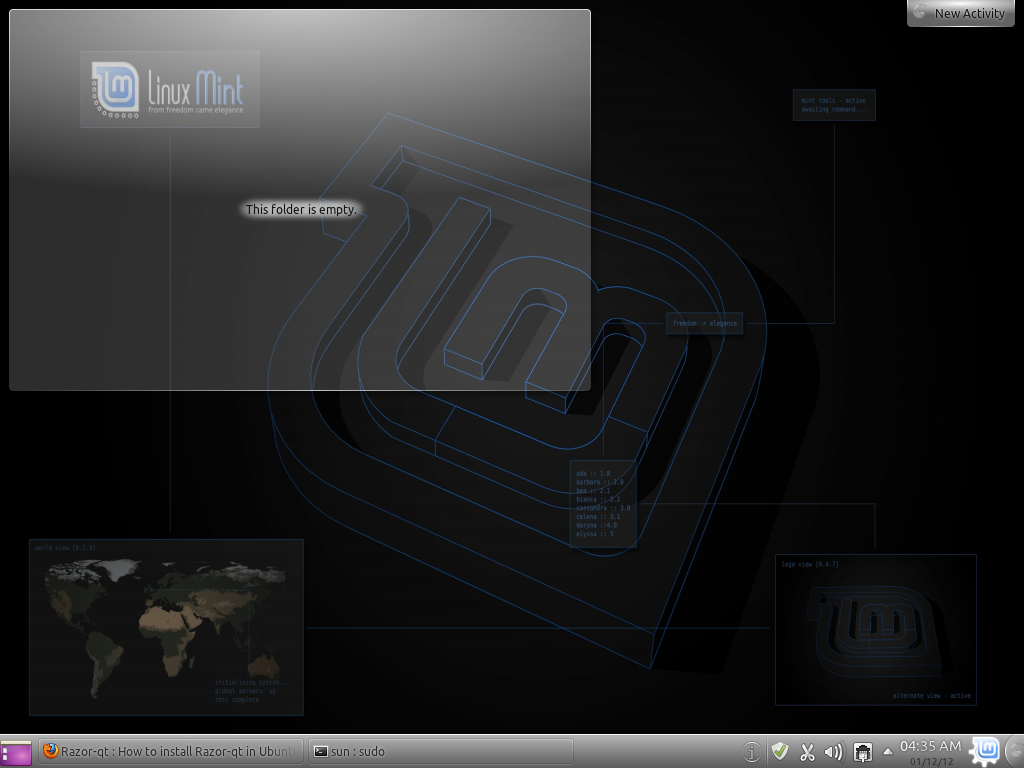 Linux Mint 12 KDE Global Wallpaper