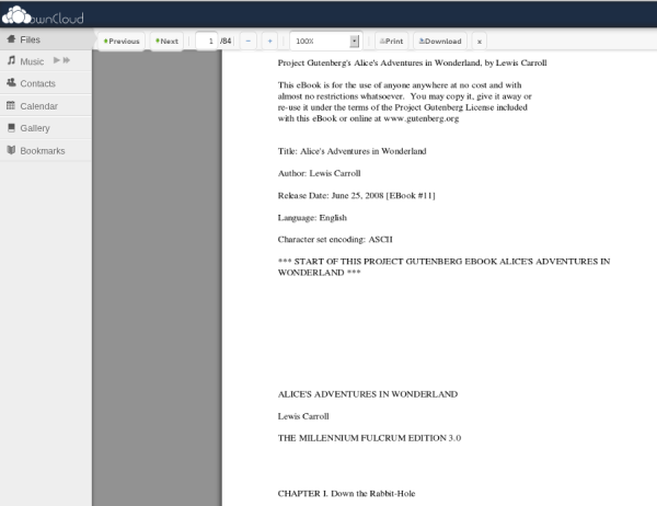 ownCloud PDF Viewer