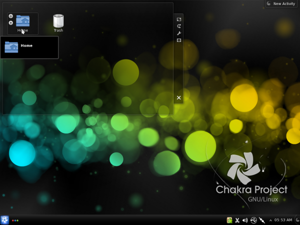 Chakra Linux Archimedes KDE Desktop