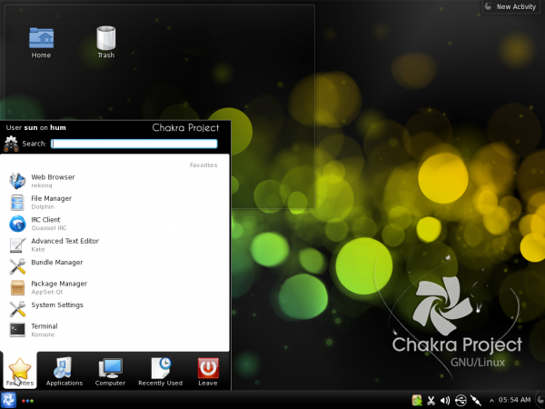 Chakra Linux Archimedes Desktop Kickoff