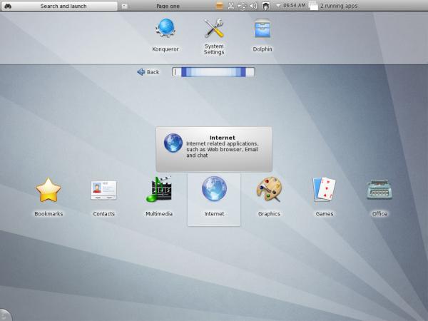 Chakra Linux Archimedes Desktop Netbook