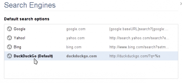 DuckDuckGo Default Search Engine