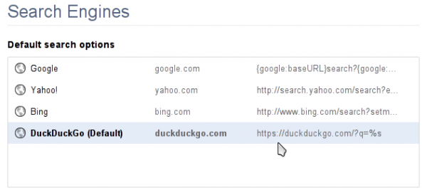 SSL DuckDuckGo Default Search Engine
