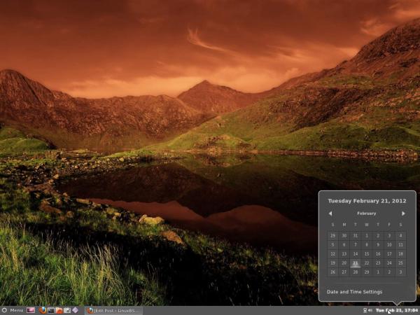 Cinnamon Panel Calendar Ubuntu 11.10