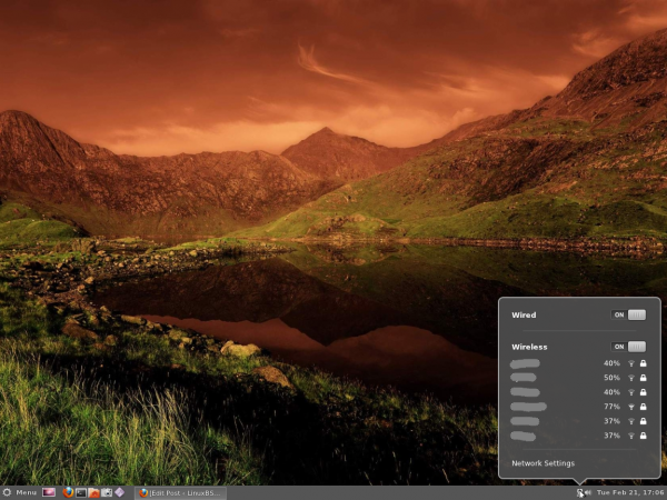 Cinnamon Panel Network Manager Ubuntu 11.10