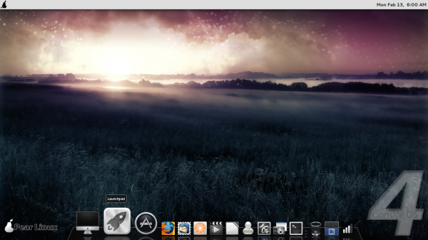 Pear Linux Comice OS 4 Desktop