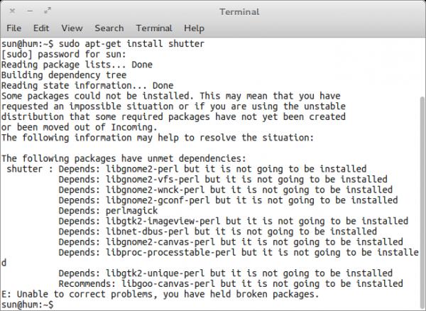 Comice OS 4 Shutter Install Error