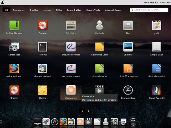Comice OS 4 Launchpad