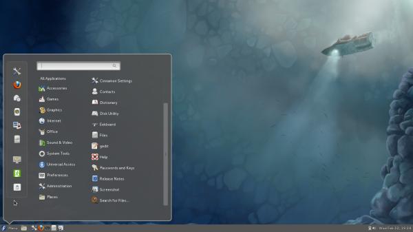 Cinnamon 1.3.1 Fedora 16