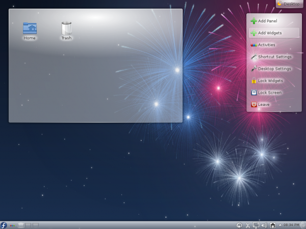 Fedora 17 KDE Desktop