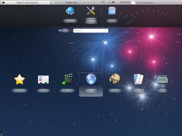 Fedora 17 KDE Netbook Desktop