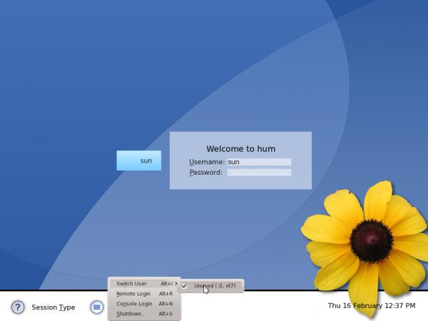 Chakra Linux Archimedes KDE Login Screen