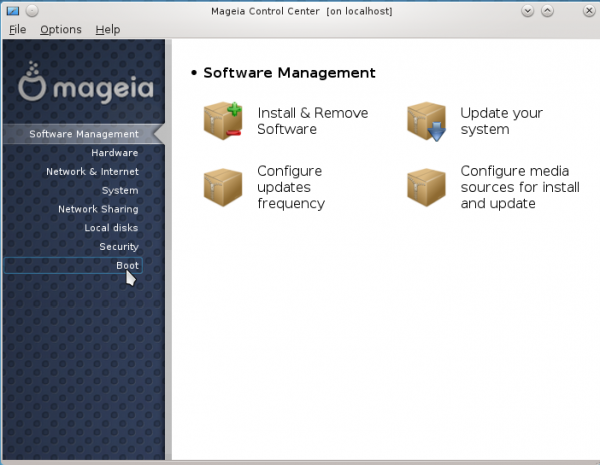 Mageia 2 Management Center