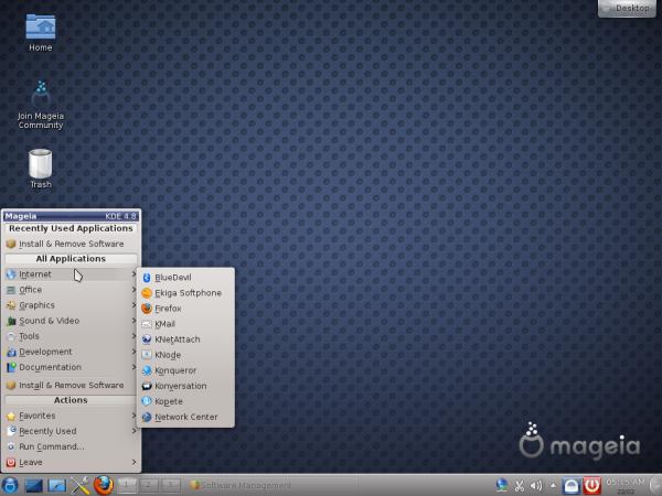 Mageia 2 Desktop Menu