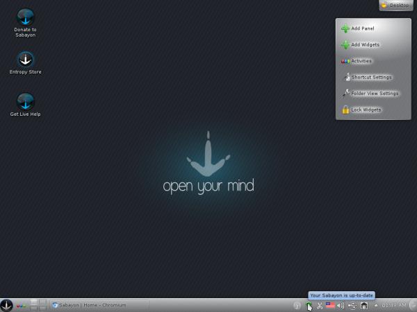 Sabayon 8 KDE Desktop