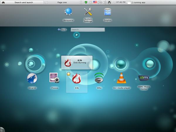 Sabayon 8 KDE Plasma Netbook