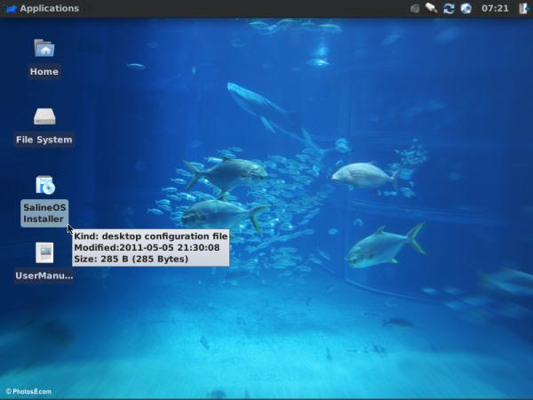 SalineOS 1.6 Desktop