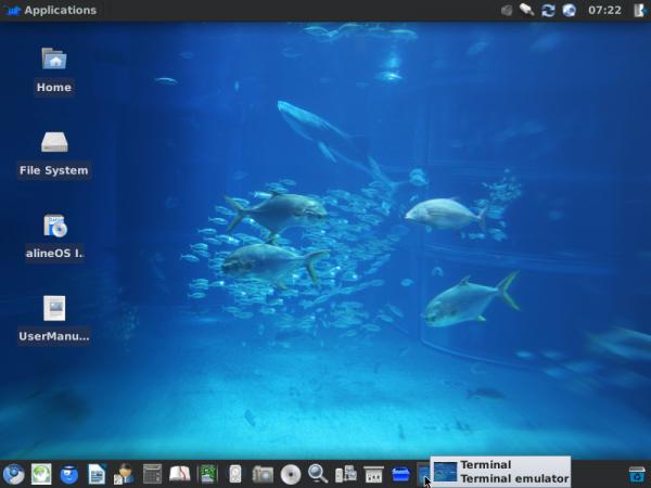 SalineOS 1.6 Desktop Panel