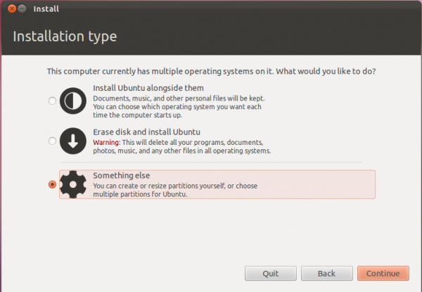 Install Ubuntu 11.10 on external hard drive, with an ntfs partition at the end