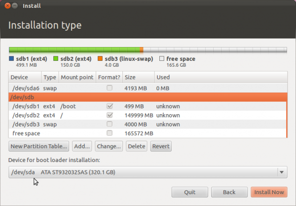 Ubuntu 11.10 Complete Partition