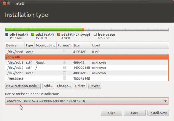 Ubuntu 11.10 Select GRUB Location