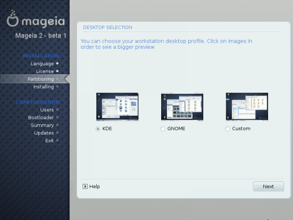 Mageia 2 beta 1 screen shot preview