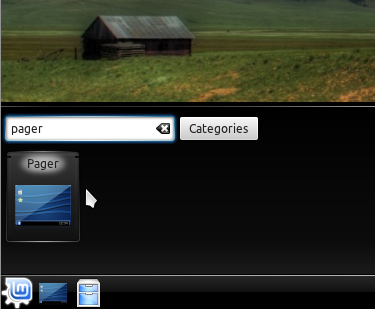 Linux Mint Pager Widget