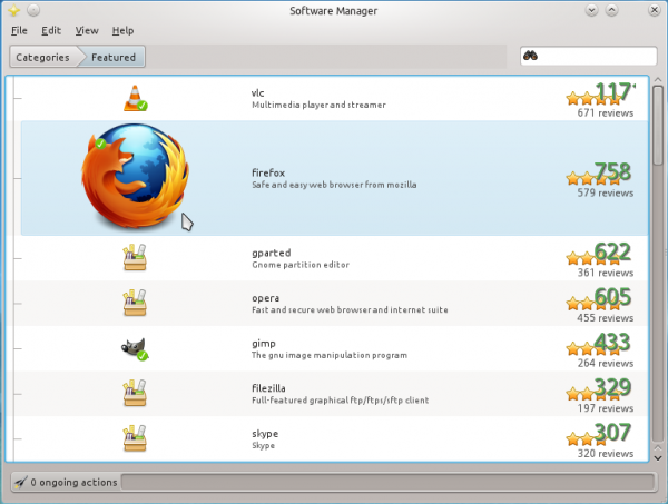 Linux Mint 12 KDE Software Manager