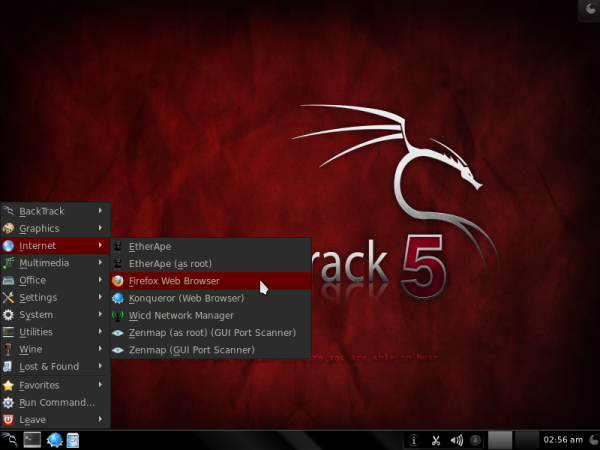 BackTrack 5 Internet Apps