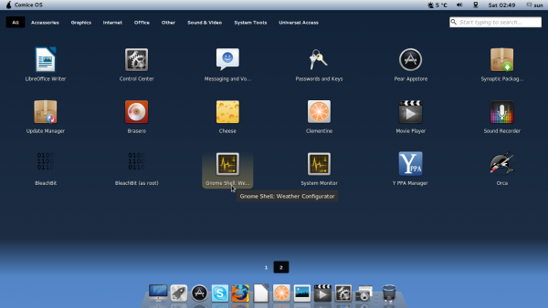 Pear Linux Comice OS 4 Launchpad Apps