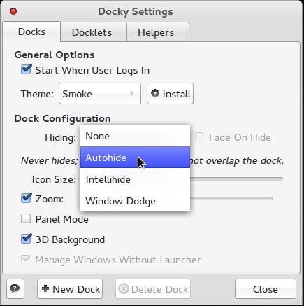Comice OS 4 Dock Auto-hide